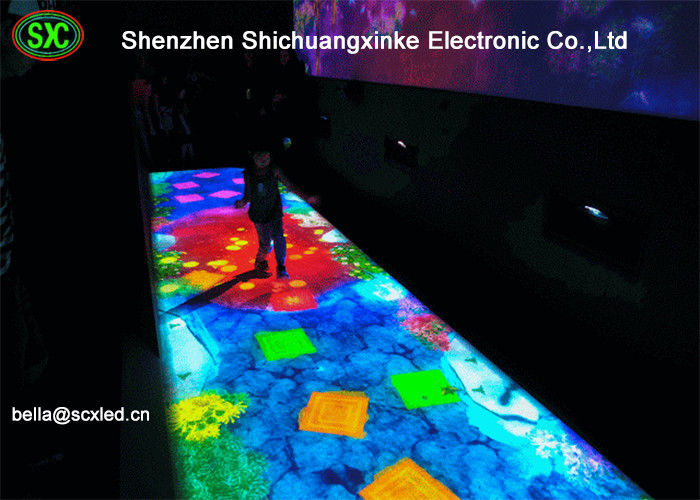 Indoor P10 IR Camera Interactive Full Color Led Dance Floor Screen For Entertainment club dance floor lighting
