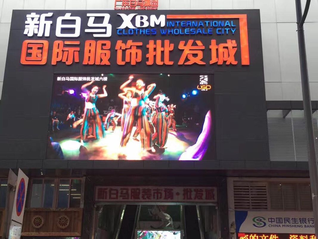 HD SMD3535 Outdoor Led Advertising Screens P6 RGB 3 In1 32x32 Resolution 4200Hz