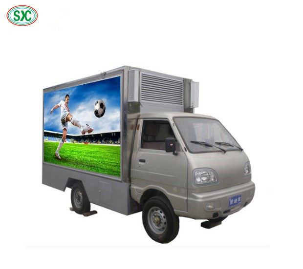 Durable Mobile Truck Led Display Epistar Full Color Tube Chip 62500 Dots / Sqm