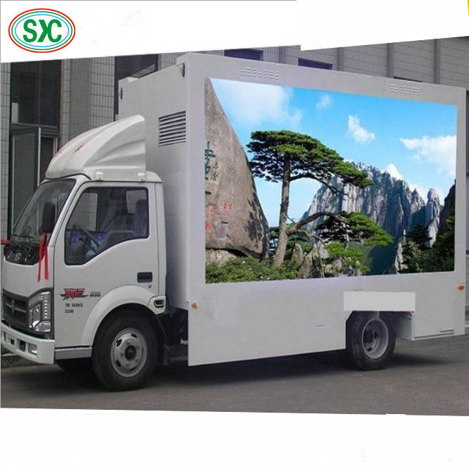 High Brightness Mobile Truck LED Display 1R1G1B Tube Chip Iron / Steel Cabinet