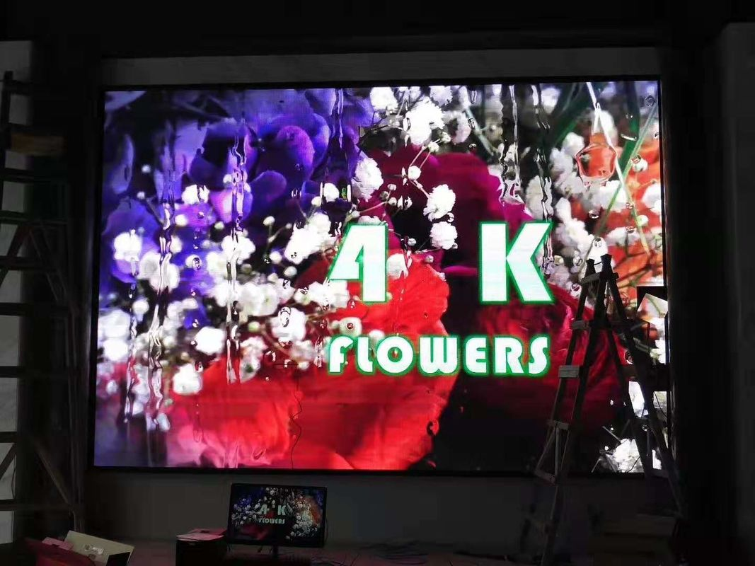 Advertising P4 indoor HD full color LED display wall front magnet, high resolution