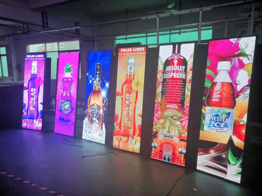High Brightness Poster LED Screen , LED Poster Panel Full Color P3 Indoor