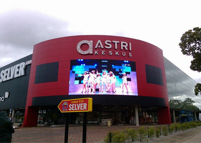 Outdoor Advertising Full Color LED Display Screen Sign SMD2727 Iron / Steel Cabinet